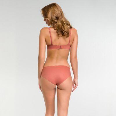 Microfibre balconette bra in cedar pink- Body Touch, , DIM