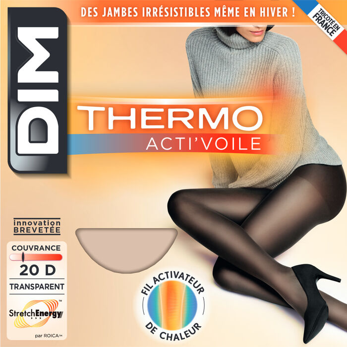 Thermo Acti'Voile 20 black tights, , DIM