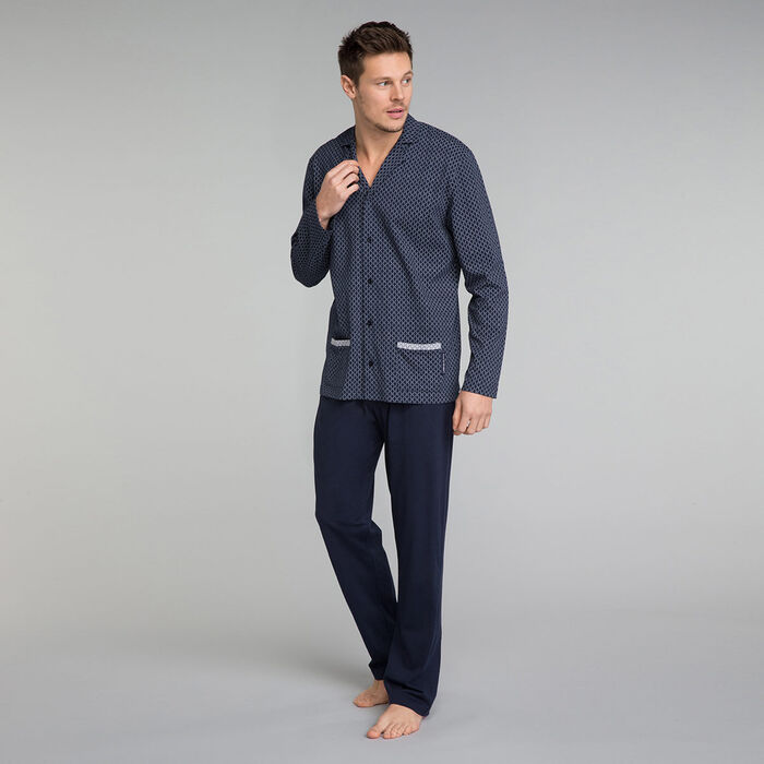 Navy blue pyjama trousers - Mix and Match, , DIM