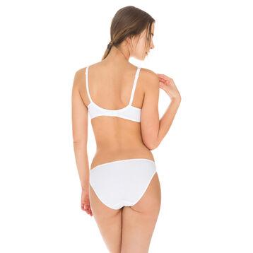 White EcoDIM cotton bikini knickers, , DIM