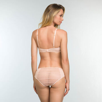 Triangle Push-up Bra in Nude Pink Lace Mod by Dim, , DIM