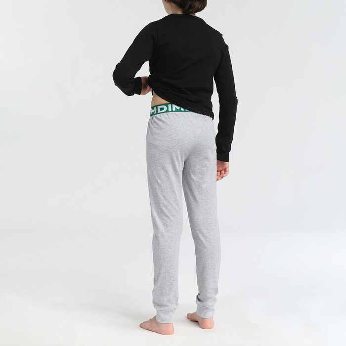 Boy's pyjamas with long sleeves and 2 pieces Burger Black Dim, , DIM