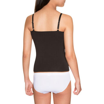 Black DIM Girl stretch cotton camisole - DIM