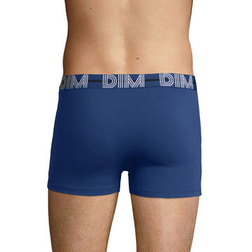 Boxer Bleu Eclipse en coton stretch à la ceinture bleue Dim Powerful, , DIM