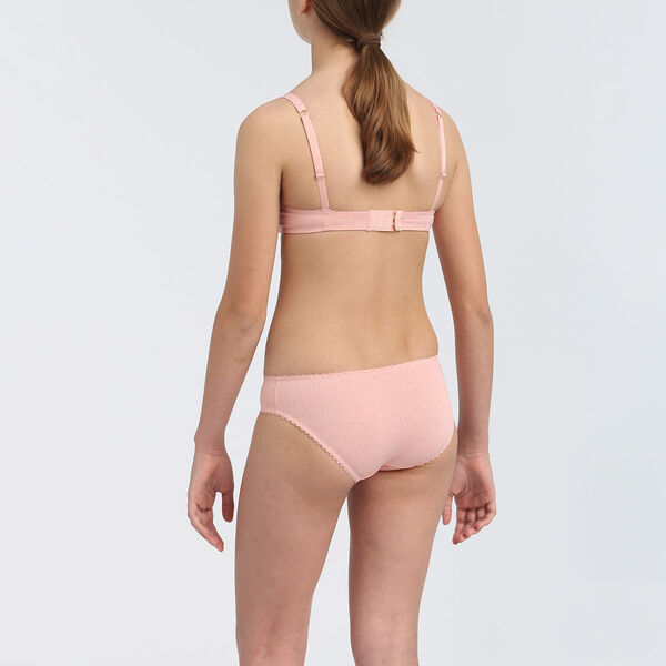 girl with dress  pink cheeky briefs