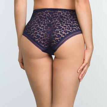 Infinite Blue laced and printed high waist brief Leopard Line, , DIM