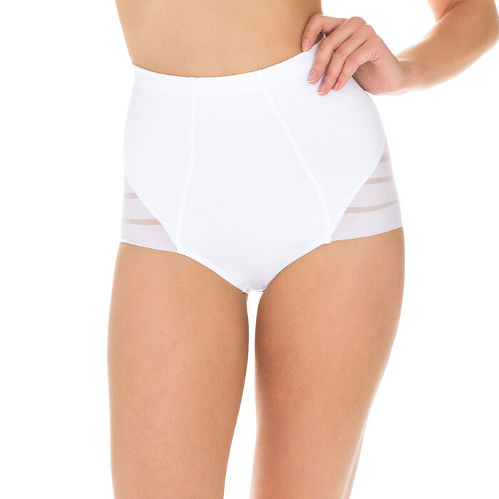 Diam's Control Modern high rise knickers in white, , DIM