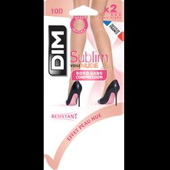 Lot de 2 mi-bas Sublim voile effet nude beige rosé 10D-DIM