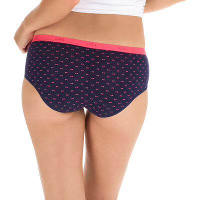 Lot de 3 boxers pretty rose en coton stretch Les Pockets-DIM