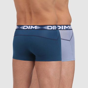 3D Flex Air 2 pack antiperspirant trunks in midnight blue, , DIM