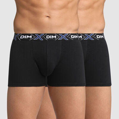 Lot de 2 boxers noirs X-Temp en coton stretch, , DIM