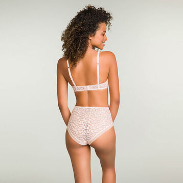 Nude Pink laced and printed shorty Leopard Line, , DIM