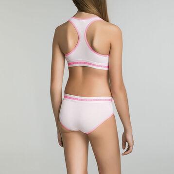 Mottled peachy pink brief for Girl - Dim Sport, , DIM