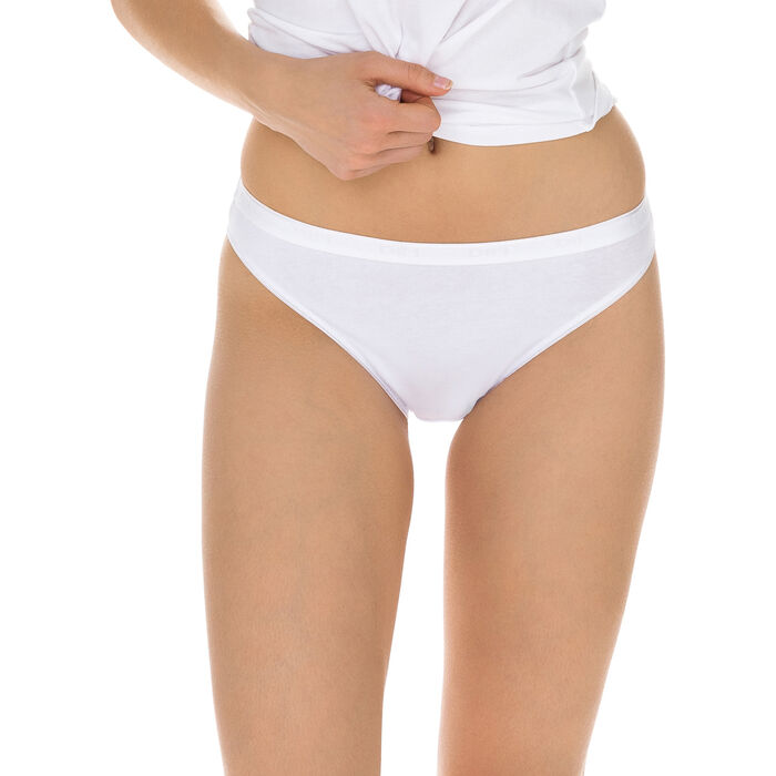Lot de 2 slips mini blancs Femme Coton Plus Bio-DIM