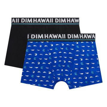 2-pack electric blue trunks - Dim boy, , DIM