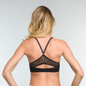 Push up Balconette Bra in Black Daily Glam Trendy Sexy , , DIM