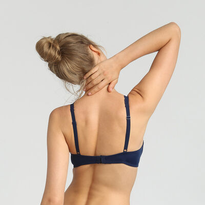 Dim Sublim Dentelle blue wireless triangle bra, , DIM