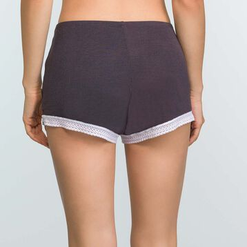 Granite Grey Pyjama shorts in modal cotton Softly Line, , DIM