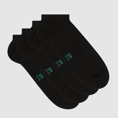 Green by Dim pack of 2 pairs of men's short lyocell socks Black, , DIM