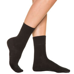Black Pur Coton socks for women, , DIM