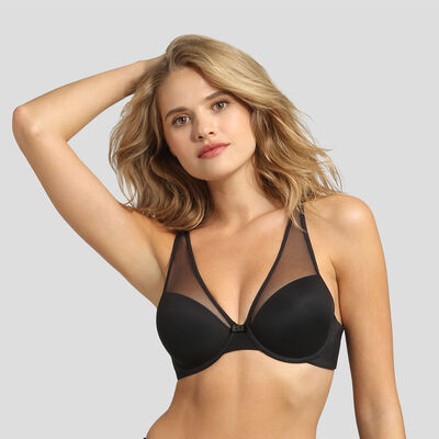Black invisible padded bra Dim Generous Limited Edition, , DIM