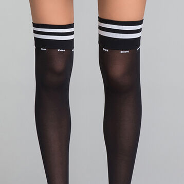 Black and white Sporty high socks - Dim Style, , DIM