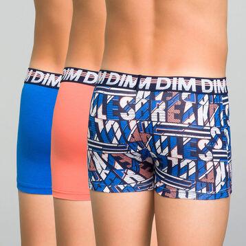 3 pack colorful trunks - Trio DIM, , DIM