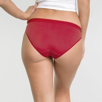 Lot de 2 slips rouge et aubergine - Les Pockets Microfibre, , DIM
