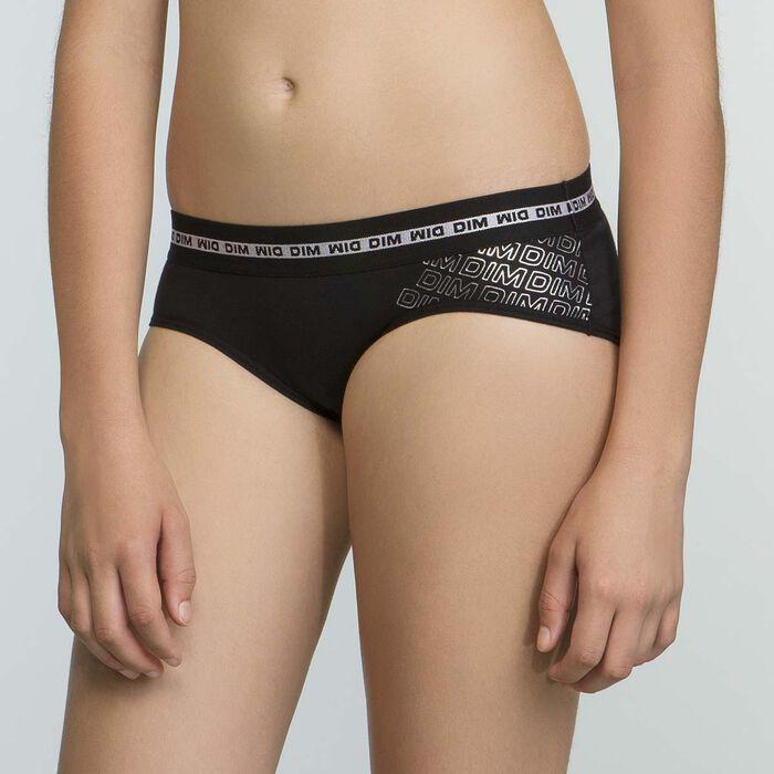 Pack of 2 black DIM Sport shortys for girls, , DIM