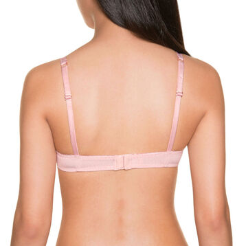Soutien-gorge triangle coque rose pêche DIM TOUCH Girl-DIM