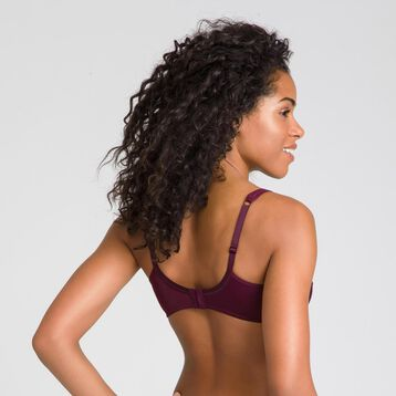 Generous deep red underwired bra - DIM