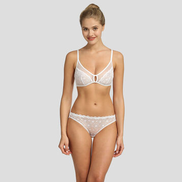 Soutien-gorge triangle sans armatures blanc Graphic Wedding de Dim, , DIM