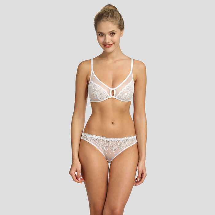 Dim Graphic Wedding soft white triangle bra, , DIM