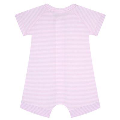 Розово-белый хлопковый комбинезон на молнии Dim Baby, , DIM