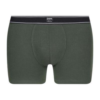 Мужские хлопковые боксеры коричнево-зеленого цвета из модала в рубчик в стиле ретро Dim Elegant, , DIM