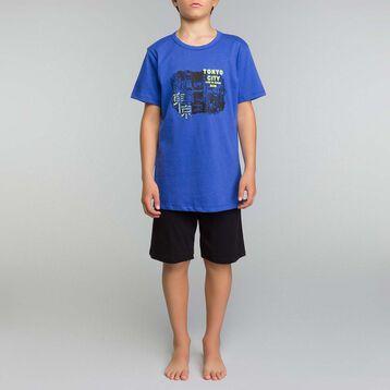 Black and ink blue pyjama set Dim Boy  - Nuit Tokyo, , DIM