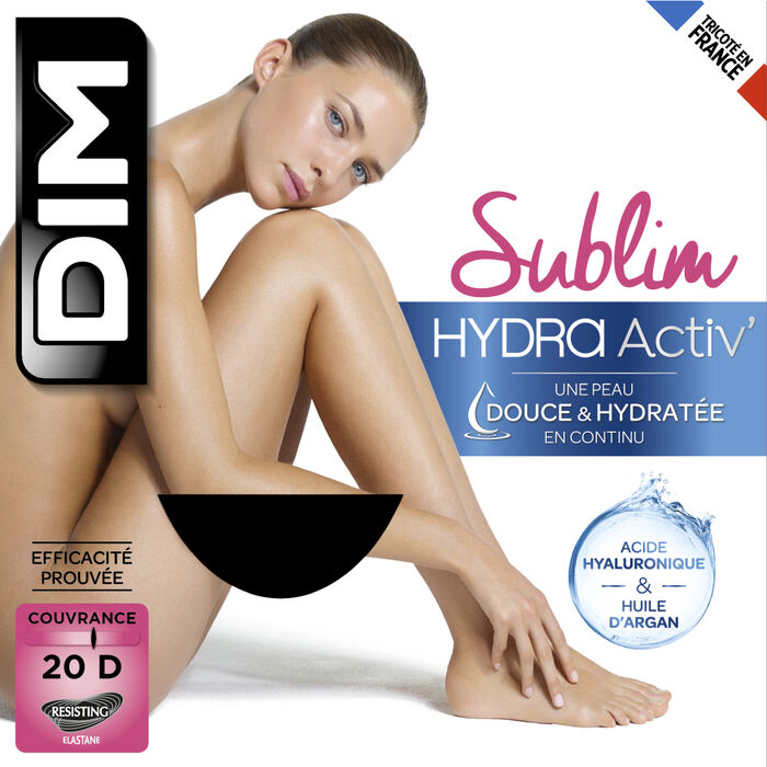 Moisturizing Sublim Black 20 Tights - Dim Sublim HydraActiv, , DIM