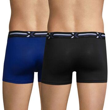 Lot de 2 boxers bleu et noir - Xtemp Activ, , DIM