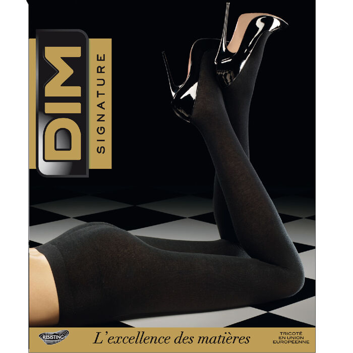 Black DIM Signature Cashmere* warm 158 tights, , DIM