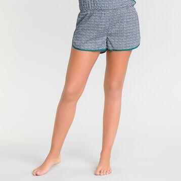 Pyjama jumpsuit with green and blue patterns - DIM Odyssée, , DIM