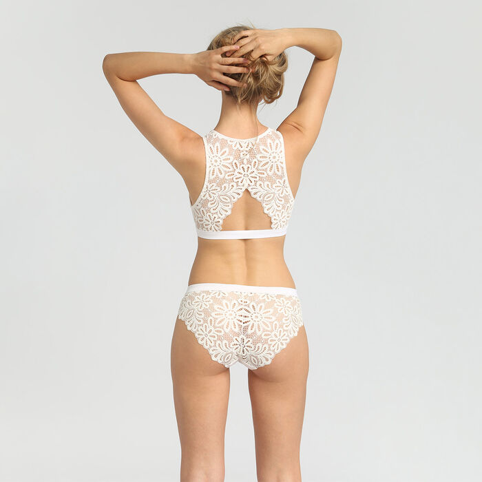 Lace white briefs Daily Glam, , DIM