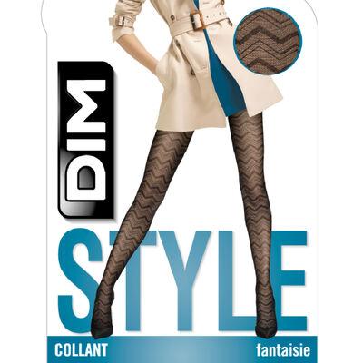 Набор 2шт.: Черные кружевные колготки 20D  с узором ёлочка Dim Style , , DIM