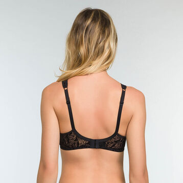 Velvet Print Full Cup Bra Generous Limited Edition, , DIM