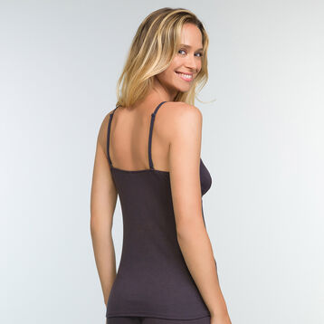Granite Grey Cami in modal cotton Softly Line , , DIM