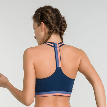 Minimum support sport bra in blue  - Dim Sport, , DIM
