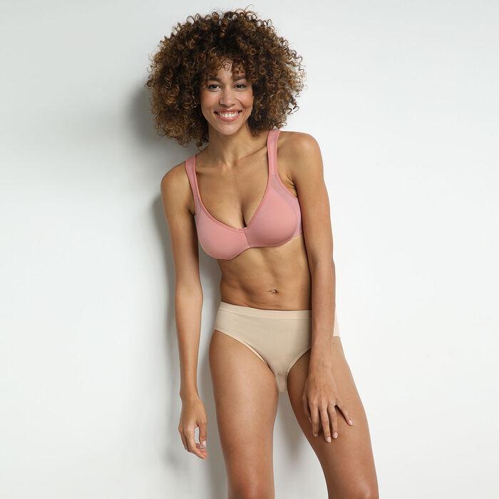 Generous pink underwired minimizer bra, , DIM