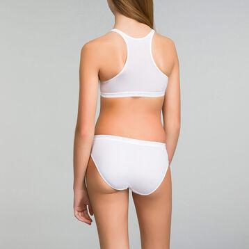 Lot de 2 culottes fille blanches - Pocket Micro, , DIM