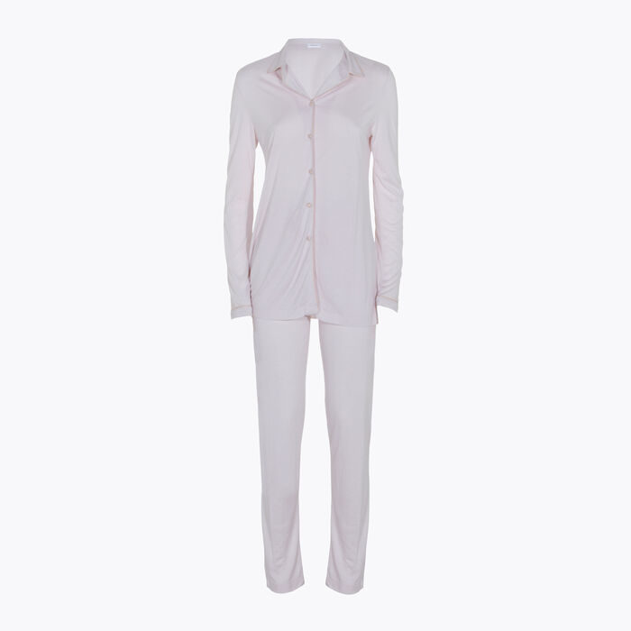Women's Pale Pink Pyjama Set, , DIM
