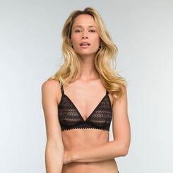 Non-wired triangle bra in Black Lace Mod by Dim, , DIM