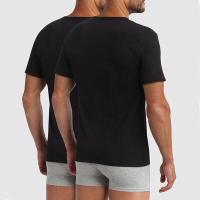 Lot de 2 t-shirts col rond thermorégulation active noir XTemp Dim, , DIM